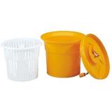 Центрифуга д/сушки зелени;  пластик;  25л;  D=43,H=60см;  оранжев.