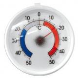 Термометр д/холод.(1C+50-50);  пластик;  ,L=65,B=55мм;  белый