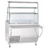 Прилавок холодильный ПВВ(Н)-70Т-НШ охлаждаемая ванна (открытый,1120 мм)