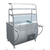Прилавок холодильный ПВВ(Н)-70Т-01-НШ (открытый, 3 полки, подсветка,охлажд. ванна h-85 мм,1500 мм)