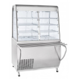 Прилавок-витрина холодильный ПВВ(Н)-70Т-С-НШ с гастроёмкостями (саладэт закрыт.,1120 мм)