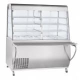 Прилавок-витрина холодильный ПВВ(Н)-70Т-С-01-НШ с гастроёмкостями (саладэт закрыт.,1500 мм)