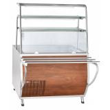 Прилавок холодильный ПВВ(Н)-70Т-НШ охлаждаемая ванна (открытый,1120 мм) кашир.