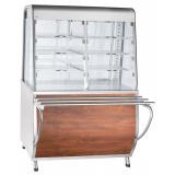 Прилавок-витрина тепловой ПВТ-70Т (закрытая витрина, 1120 мм) кашир.