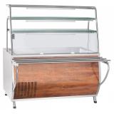 Прилавок холодильный ПВВ(Н)-70Т-01-НШ (открытый, 3 полки, подсветка,охлажд. ванна h-85 мм,1500 мм) кашир.