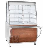 Прилавок-витрина холодильный ПВВ(Н)-70Т-С-НШ с гастроёмкостями (саладэт закрыт.,1120 мм) кашир.