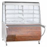 Прилавок-витрина холодильный ПВВ(Н)-70Т-С-01-НШ с гастроёмкостями (саладэт закрыт.,1500 мм) кашир.