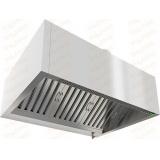 ЗКВПО-0911 зонт вытяжной пристенный коробчатый