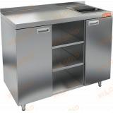 НБМКМО-12/7Б стол для кофемашин с отверстием и бортом