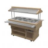Салат-бар охлаждаемый WoodLine под GN ПО-157/4GN/W
