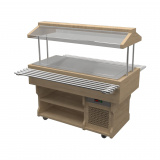 Салат-бар с охлаждаемой поверхностью из нержавеющей стали WoodLine ПО-157/ПН/W