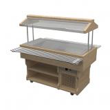 Салат-бар с тепловой поверхностью из нержавеющей стали  WoodLine ТМ-187/ПН/W