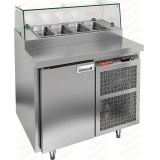 PZ1-1/GN СТЕКЛО стол холодильный для пиццы
