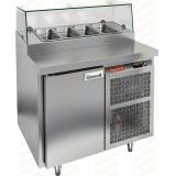 PZ2-1/GN СТЕКЛО стол холодильный для пиццы