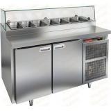 PZ2-11/GN СТЕКЛО стол холодильный для пиццы