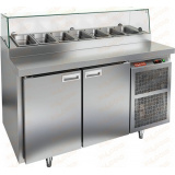 PZ1-11/GN СТЕКЛО стол холодильный для пиццы
