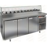 PZ2-111/GN СТЕКЛО стол холодильный для пиццы