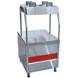 Прилавок для столовых приборов ПСП-70КМ (630 мм, нерж. стаканы)