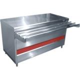 Прилавок тепловой ПВТ-70КМ-02 (тепловой шкаф, тепловентилятор,без полок, 1500 мм)