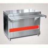 Прилавок для горячих напитков ПГН-70КМ-02 нейтральный стол (без полок, 1120 мм)