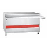 Прилавок для горячих напитков ПГН-70КМ-03 нейтральный стол (без полок, 1500 мм)