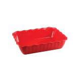 Салатник с волнистым краем 422108404 (красный, 2л)