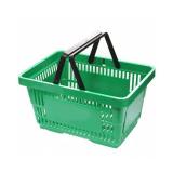 Корзина покупательская т.м. EKSI пластиковая, 20л, 2 руч., green