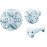 MARTELLATO SRL Вырубка 40-W010S (с выталкивателем и рельефным рисунком, снежинка, 3 шт., 25/40/56мм)
