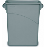 Rubbermaid Контейнер для мусора FG354100LGRAY (с ручками, без крышки, 60л)