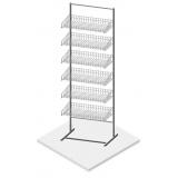 Стойка торговая (440 мм с 6-ю рядами наклонных полок)