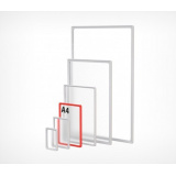 PF- A4 Рамка пластиковая стандартная с закругленными углами, белая