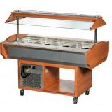 Холодильный салат-бар т.м. EQTA серии SB, мод. SB 4C (Walnut)