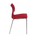 СТУЛ METALMOBIL UNI ART.550 КАРКАС ХРОМ/ СИДУШКА КРАСНАЯ