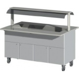 Ванна холодильная BLH-160-C, верхний уровень с подсветкой, направляющая 270 мм, колеса