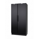 Шкаф холодильный 100 CF черный, дверь из нерж. стали
