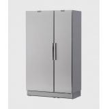 Шкаф холодильный 120 CF серый, дверь из нерж. стали