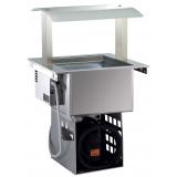 Ванна холодильная встраиваемая DI2RWVO вентилируемая, с верхней стойкой, 2 GN