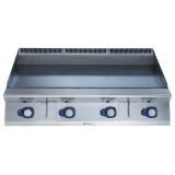Большая газовая плита контактной жарки HP с гладкой поверхностью, термостат, 1200 мм