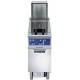23-л газовая фритюрница с V-образной ванной (наружные горелки) и 2 корзинами 1/2, электронная система управления, автоматическая фильтрация масла