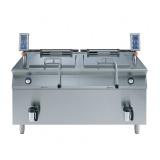 2х150-л газовый универсальный варочный аппарат, автоматический, прямой нагрев, опрокидываемые корзины 2х15 кг