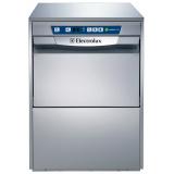Компактная посудомоечная машина, изолированная, атмосферный бойлер (6 кВт), дренажная помпа, 216 тарелок/час - medical line