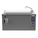 125-л электрическая тигельная сковорода (h) со смесителем, прямоугольная, брызгозащита