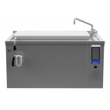 125-л электрическая тигельная сковорода (s) со смесителем, прямоугольная, брызгозащита