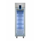 Однодверный холодильный шкаф prostore 470 л, стеклянная дверь, 0°C +10°C, н/сталь AISI 304, R290