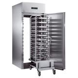 Сквозной холодильный шкаф 1600 л для вкатной тележки, 1 сплошная дверь, 1 стеклянная дверь, +2° +10°C, н/сталь AISI 304