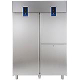 Морозильный шкаф с двумя агрегатами, 1430 л, 1 сплошная дверь, 2 вертикальные секции, -2° +10°C / -22° -2°C, цифровой дисплей, н/сталь AISI 304