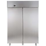 Двухдверный холодильный шкаф 1430 л, -2° +10°C, цифровой дисплей, н/сталь AISI 304, для работы с выносным агрегатом