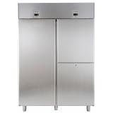Холодильный шкаф для рыбы с двумя агрегатами, 1430 л, 1 сплошная дверь, 2 вертикальные секции, -2° +10°C / -6° -2°C, цифровой дисплей, н/сталь AISI 304