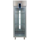 Однодверный холодильный шкаф 670 л (R290), +2° +10°C, стеклянная дверь, цифровой дисплей, н/сталь AISI 304