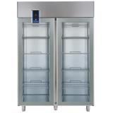 Двухдверный холодильный шкаф 1430 л (R290), стеклянные двери, +2° +10°C, цифровой дисплей, н/сталь AISI 304
